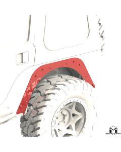 Rear Flare Mounting Plate, Pair, CJ-5/CJ-7 Mod Cut