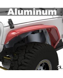 Aluminum Hardline Tube Fenders, JK Wrangler, Front