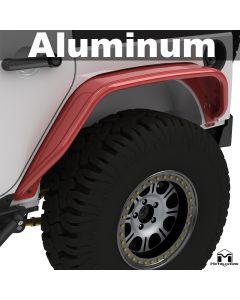 Aluminum Hardline Tube Fenders, JK Wrangler, Rear, Pair