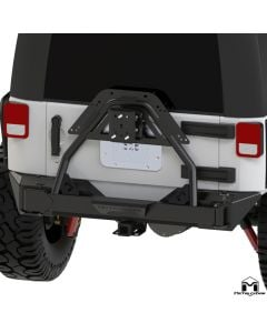 """JK Wrangler Rear Bumper """"Crawler"""" Tire Carrier, 62"""" BPC"""