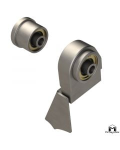 Front Duroflex Weld-On Bracket and Axle Bushing Kit, JK