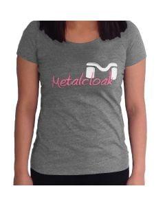 Women's MetalCloak Script Tee, Grey