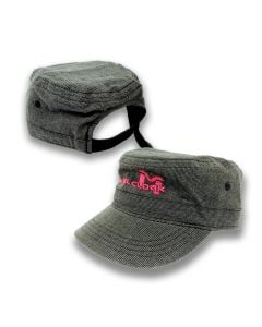 MetalCloak Women's Military Style Cap - (Black & Charcoal Tweed)