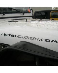 "Black MetalCloak.com 26"" Premium Vinyl Decal"