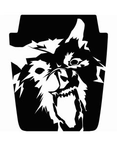 Reversed Wolverine Mountain Style Hood Decal - Universal