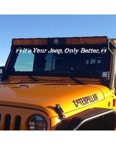 White It's Your Jeep, Only Better Premium Vinyl Decal
