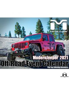 **50% OFF & FREE SHIPPING**  2021 ModernJeeper Off-Road Event Calendar, MetalCloak Edition