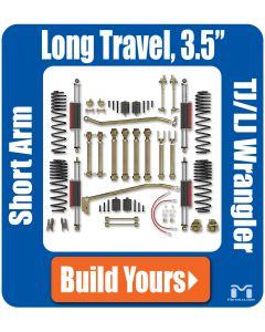"""TJ/LJ 3.5"""" Long Travel, Short Arm Suspension"""